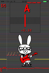 Screenshot of Guitar Rabbit Tuner on the iPhone 4S